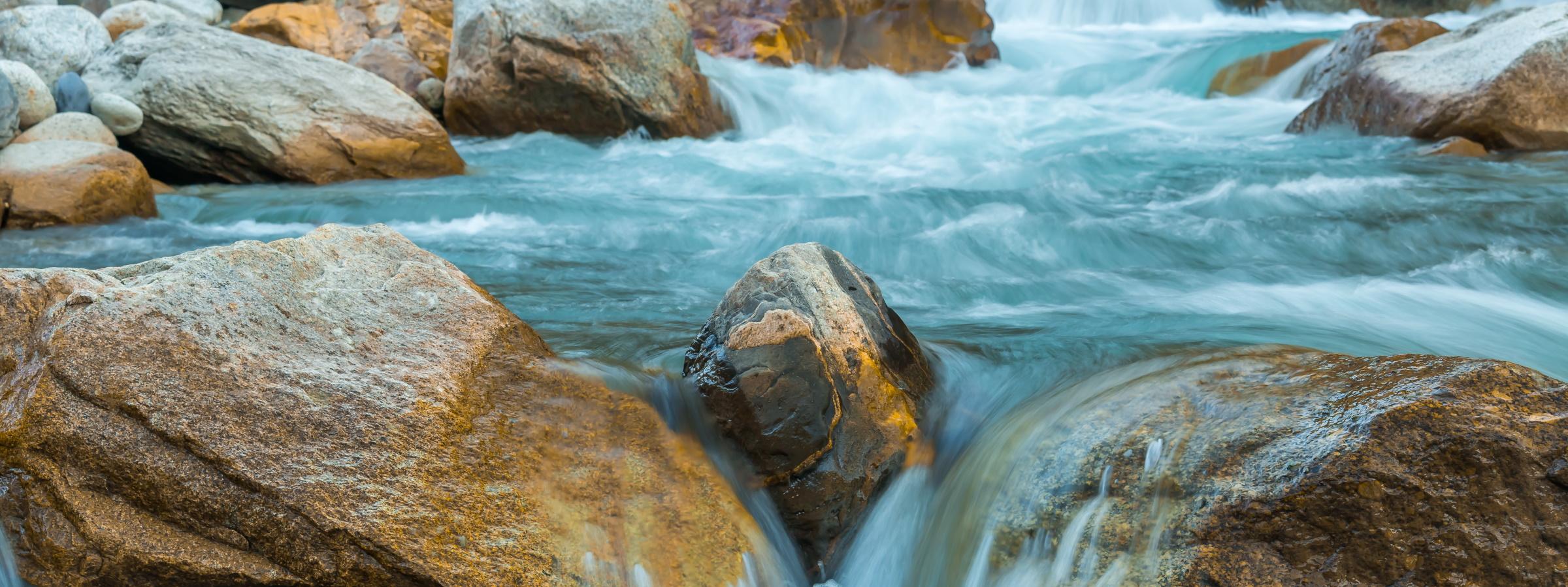 rivière rochers