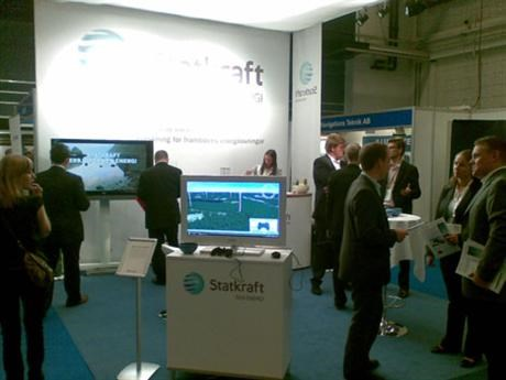 Statkraft booth at the European Offshore Wind Conference 2009